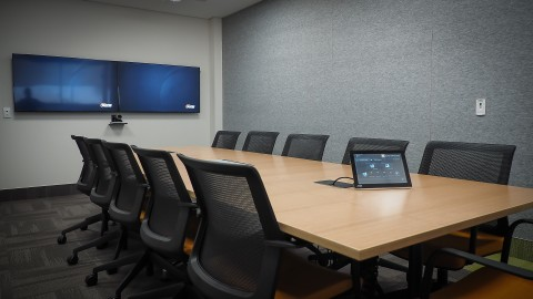 videoconference room touchscreen
