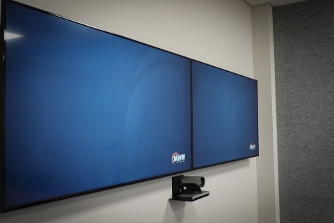 dual display videoconference